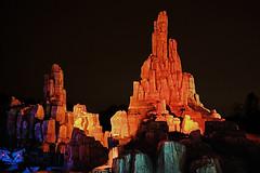 Disney - Big Thunder Mountain Railroad at Night