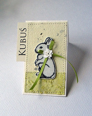 (minttint) Tags: bunny paper easter spring handmade craft card stationery placecard