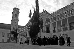 In illo tempore (ACPinho) Tags: people bw music portugal architecture spring nikon europe may exploreinterestingness coimbra littlestories interestingness287 i500 d80 nikonstunninggallery picswithsoul