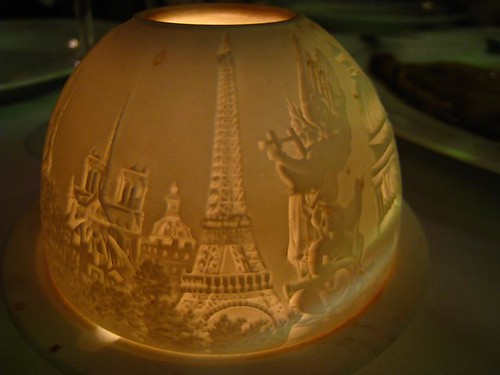 Candle Holder depicting famous Parisian landmarks