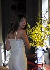 forsythia46a (Pennant) Tags: camera light color girl hair photographer image lingerie slip satin vintageslip vintagelingerie biascut rayonsatin