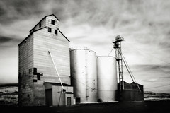 Grain Silo, Near Palouse Falls, Washington (Robert_Brown [bracketed]) Tags: bw brown white black robert rural ir photography washington wheat farming elevator grain silo infrared agriculture eastern palouse