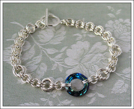 2-in-2 silver chain