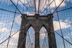Cables of Brooklyn Bridge (Jérôme Wyss Photography) Tags: 2017 city newyork nyc usa brooklynbridge manhattan bigapple cables wires bridge eastriver roeblin old noperson sky landmark iconic suspension construction