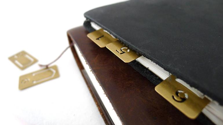 MIDORI Brass number clip