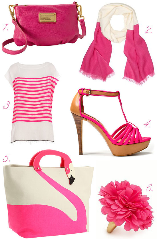 Pink accessories