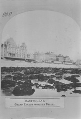 E01366 Grand Parade (East Sussex Libraries Historical Photos) Tags: seaside victorian eastbourne leisure bathing seafront 1860s eastsussex 1870s grandparade bathinghuts bathingmachines