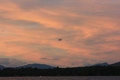 Seaplane over the Mountains