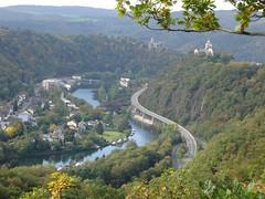 Die Lahn bei Lahnstein, vom Rheinsteig aus gesehen