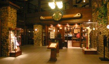 Eingangsbereich Sequioa Lodge