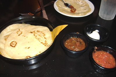 El Torito Grill - Tortillas and Honey Butter