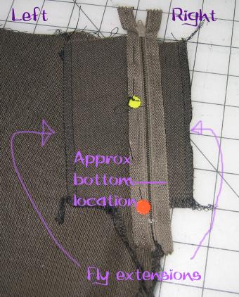 Zipper Fly Step 2