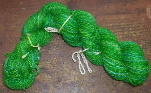DS green yarn finished