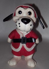 santa dawg (sparesomechange) Tags: santa christmas dog toy thrift