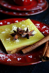Gingerbread-Orange Squares (Elina Innanen) Tags: christmas red orange yellow baking vegan cinnamon gingerbread anise cardamom aniseed