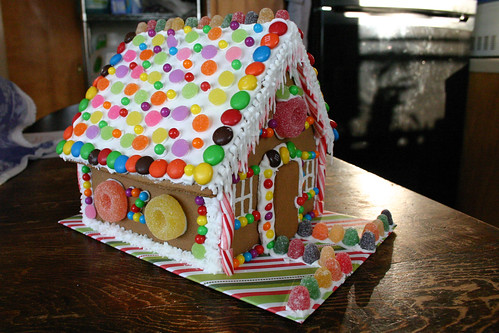 Gingerbread House -- front and side