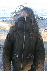 Alley in her coat