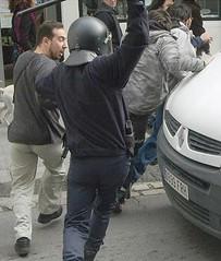Carga policial sobre ciudadanos de Casas Viejas (Sevilla)