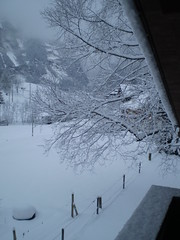 waking up to a view of fresh snow (ej_steel) Tags: snow day kandersteg 3rd