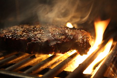 Steak...on the Grill by Another Pint Please..., on Flickr