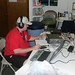 Bob in CW Mode during the MDQSO party 2007