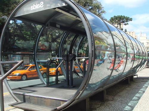 A bus stop in Brazil