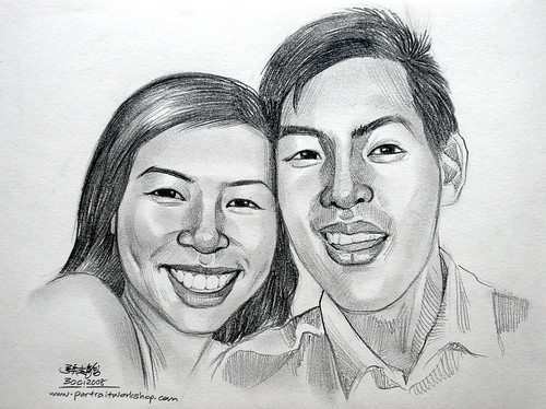 Portraits pencil couple 300108