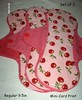 Pink with Cherry Soft Mini-Cord Print! 9.5in Regular Set of 3