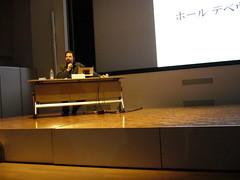 六本木国立新美術館で講演するPaul Debevec氏