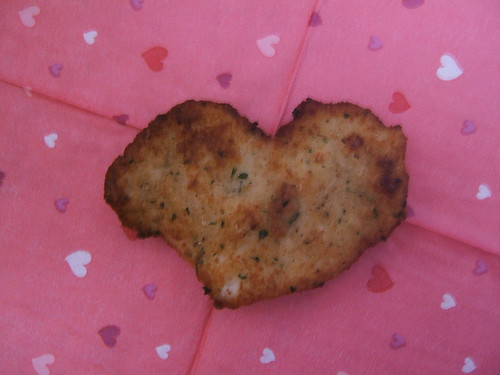 accidental heart shaped chicken cutlet