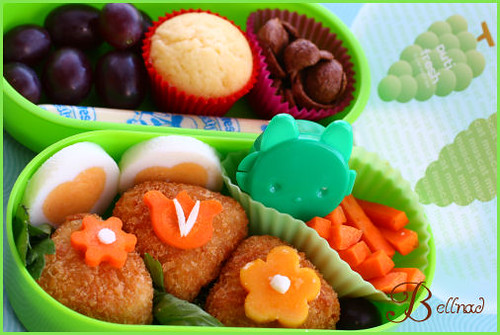 bento with rice tuna ball