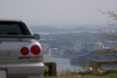 奥浜名湖展望台 車越しに舘山寺パルパル