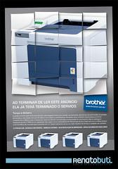 "Anncio ""21 pginas por minuto"" (Renato Buti) Tags: paper print printer brother ad anncio portfolio advertise impressora renatobuti"