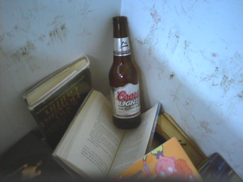 Beer in the bookdrop