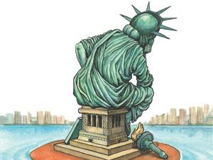 Economist : Unhappy America
