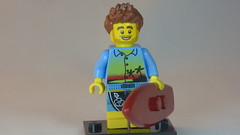 Smiling Surfer Brick Yourself Custom Lego Figure