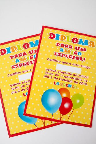 Mini Diplomas Tema Balões