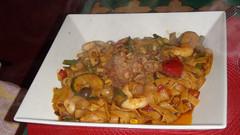 Wok oriental con noodles