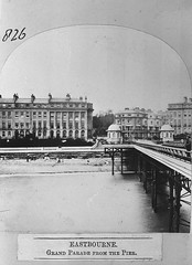 E01358 Grand Parade (East Sussex Libraries Historical Photos) Tags: pier seaside victorian eastbourne kiosk leisure bathing seafront 1860s eastsussex 1870s grandparade