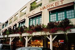 Morning activity while the Market is sleepy (spokanekelly) Tags: seattle kodak pikeplacemarket olympusxa 400hd