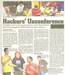Open Hack Day coverage in Indian newspaper (codepo8) Tags: india newspaper bangalore fame midday bradleyhorowitz davidfilo hackday christianheilmann joearnold hackdayindia