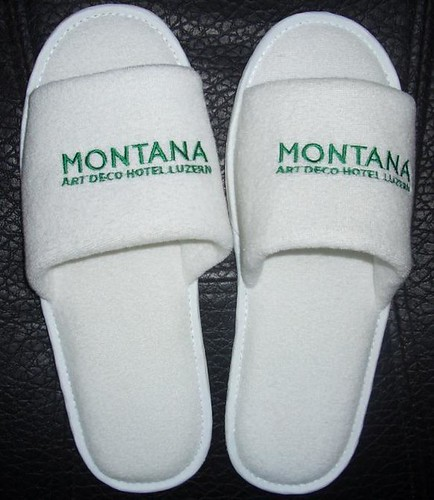 cotton terry hotel slippers