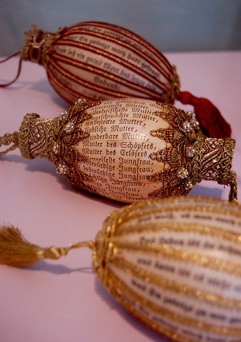 Ornate Eggs with Prayers Written on Them.