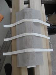Linen spine wrap