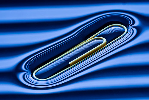Paper Clip in a Wind Tunnel