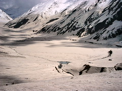 The frozen Lake Saif-ul-Maluk (A | M) Tags: pakistan snow trek hike naran saifulmaluk explored