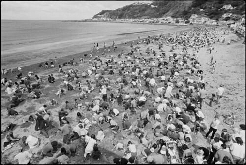 Treasure hunt, Lyall Bay beach, Wellington.1975.