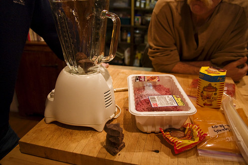 blender.  And meat.