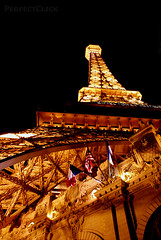 Eiffel Tower... (perfectclick) Tags: las vegas light gambling paris tower night hotel colorful shot nightshot caesar eiffel palace casino strip bellagio neveda