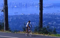 'GETTING HIGH' (Pierre♪ à ♪VanCouver) Tags: mountain canada bike bicycle vancouver pierre britishcolumbia racing 35mmfilm mtseymour northvancouver vélo mountseymour mountseymourprovincialpark sofarsocute